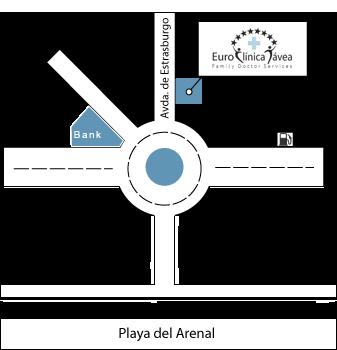 Euro Clinica Javea Map